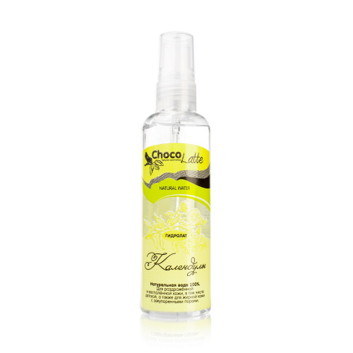 Гидролат  КАЛЕНДУЛЫ  100% натуральная цветочная вода, для проблемной кожи   100ml ChocoLatte