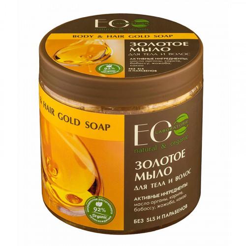 Мыло для тела и волос  ЗОЛОТОЕ  питание и смягчение кожи, восстановление сухих, поврежденных и ослабленных волос   450ml Ecolab