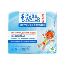 Стиральный порошок   КОНЦЕНТРАТ ДЛЯ ДЕТСКОГО БЕЛЬЯ   экологичный, гипоаллергенный с мерной ложкой   Pure Water 800 g