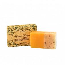 Натуральное мыло ручной работы   ИЛАНГ-ИЛАНГ   для сухой, чувствительной, склонной к раздражениям кожи   в подарочной упаковке 100g СпивакЪ